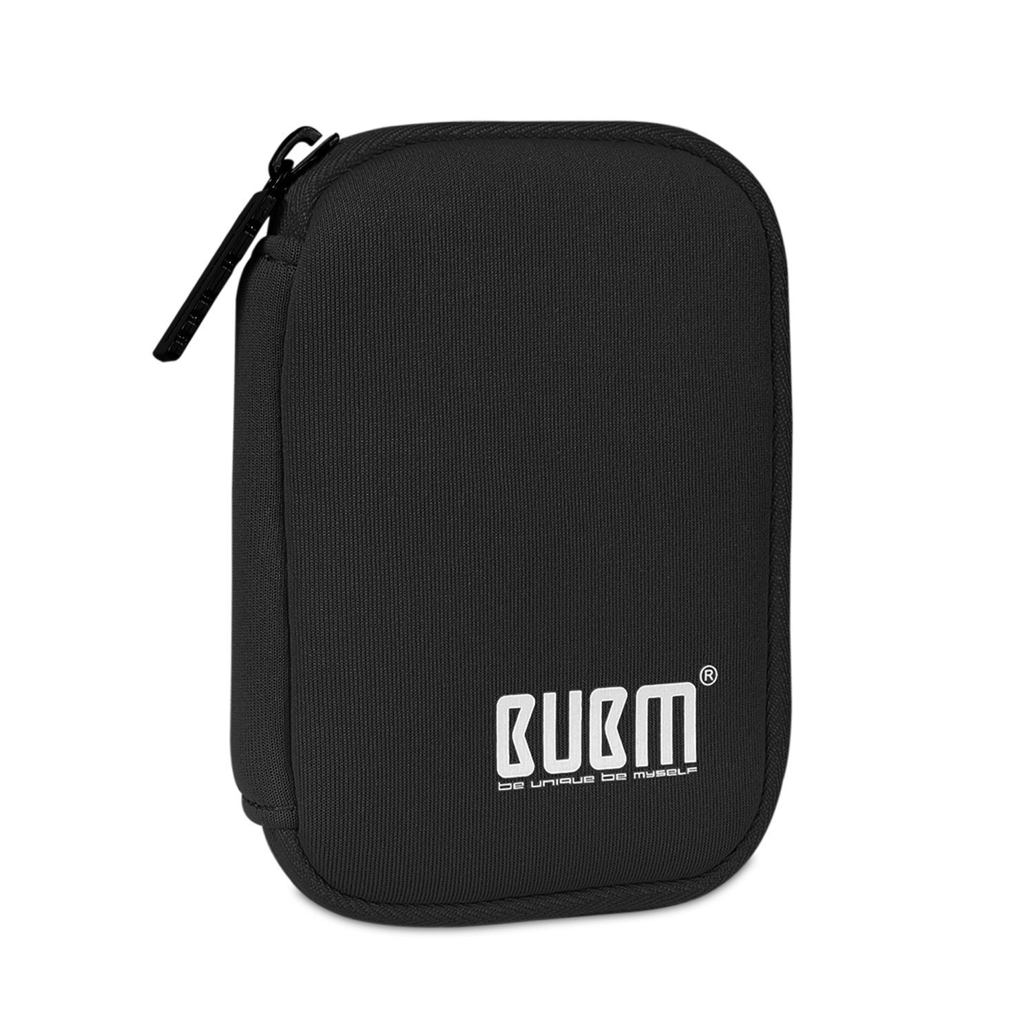 BUBM Portable 2.5-inch External Hard Drive Case, Padded Sleeve Bag, Compatible with WD/Western Digital/Seagate/Toshiba/Buffalo/Samsung and More (Small, Black)