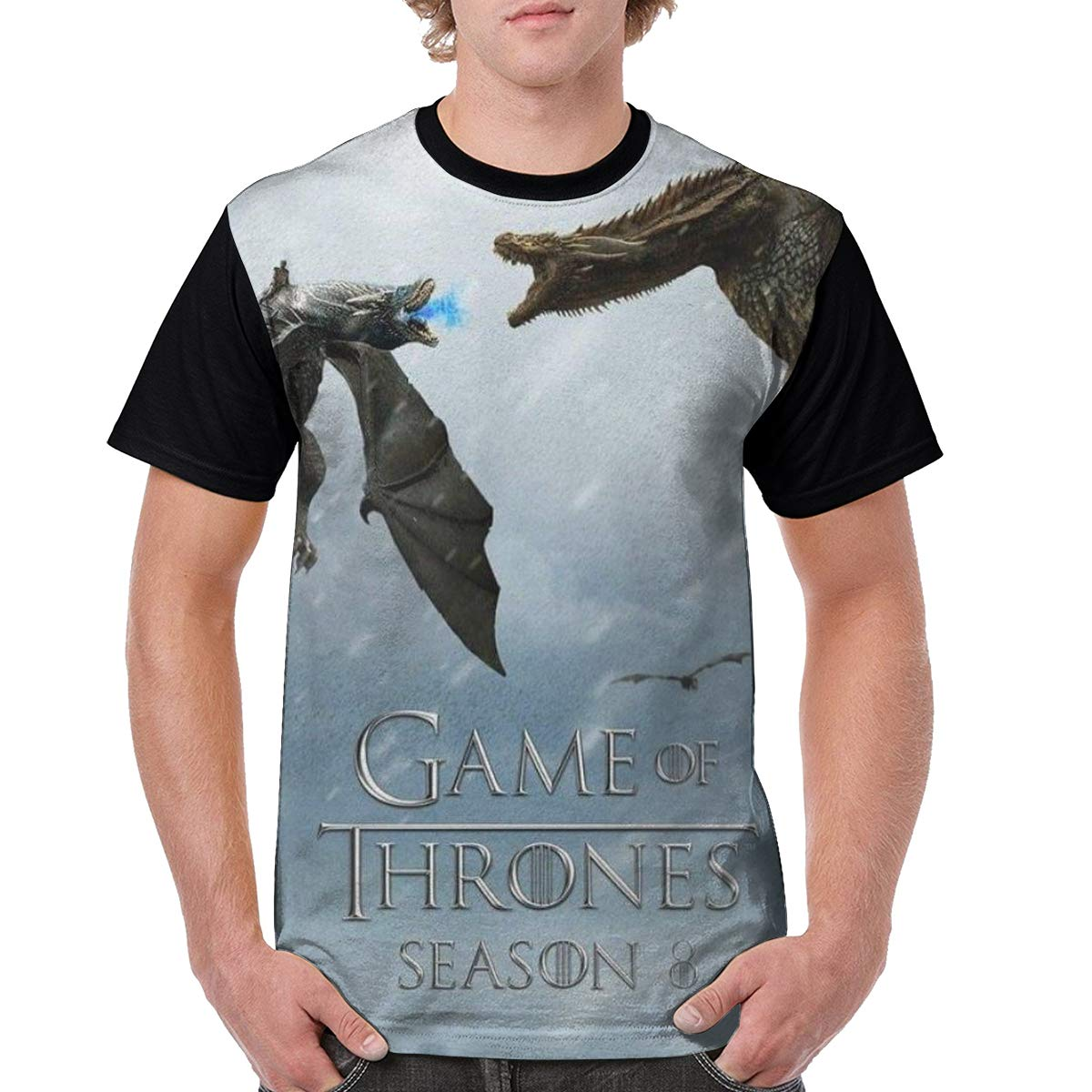 SHENGN Design Men Game of Thrones Printing Tshirts