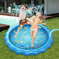 MacroShine Splash Pad Sprinkler para Niños, Piscina de Agua 170 cm para Alfabeto Aprender, Piscina de Rociadores Play…