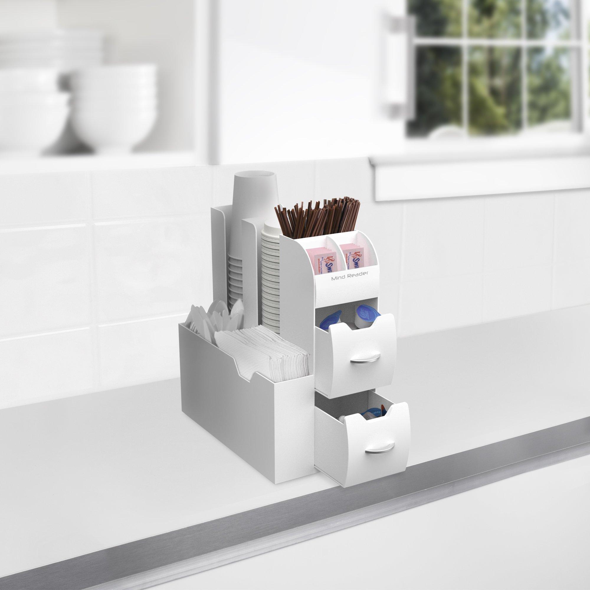 Mind Reader Coffee Condiment Organizer- White, by Mind Reader (Image #4)