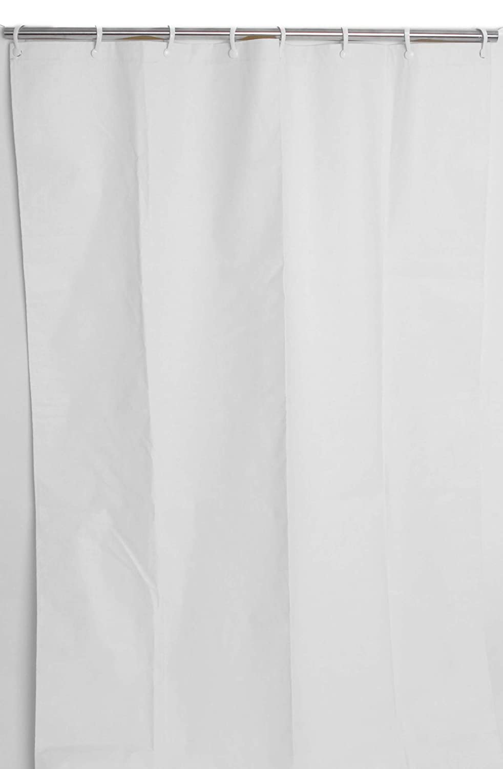 Amazon.com: CSI Bathware CUR54x74 P10 54 Inch X 74 Inch Heavy Duty  Commercial Shower Curtain Antistatic Staph Resistant Mold And Odor  Resistant, White, ...