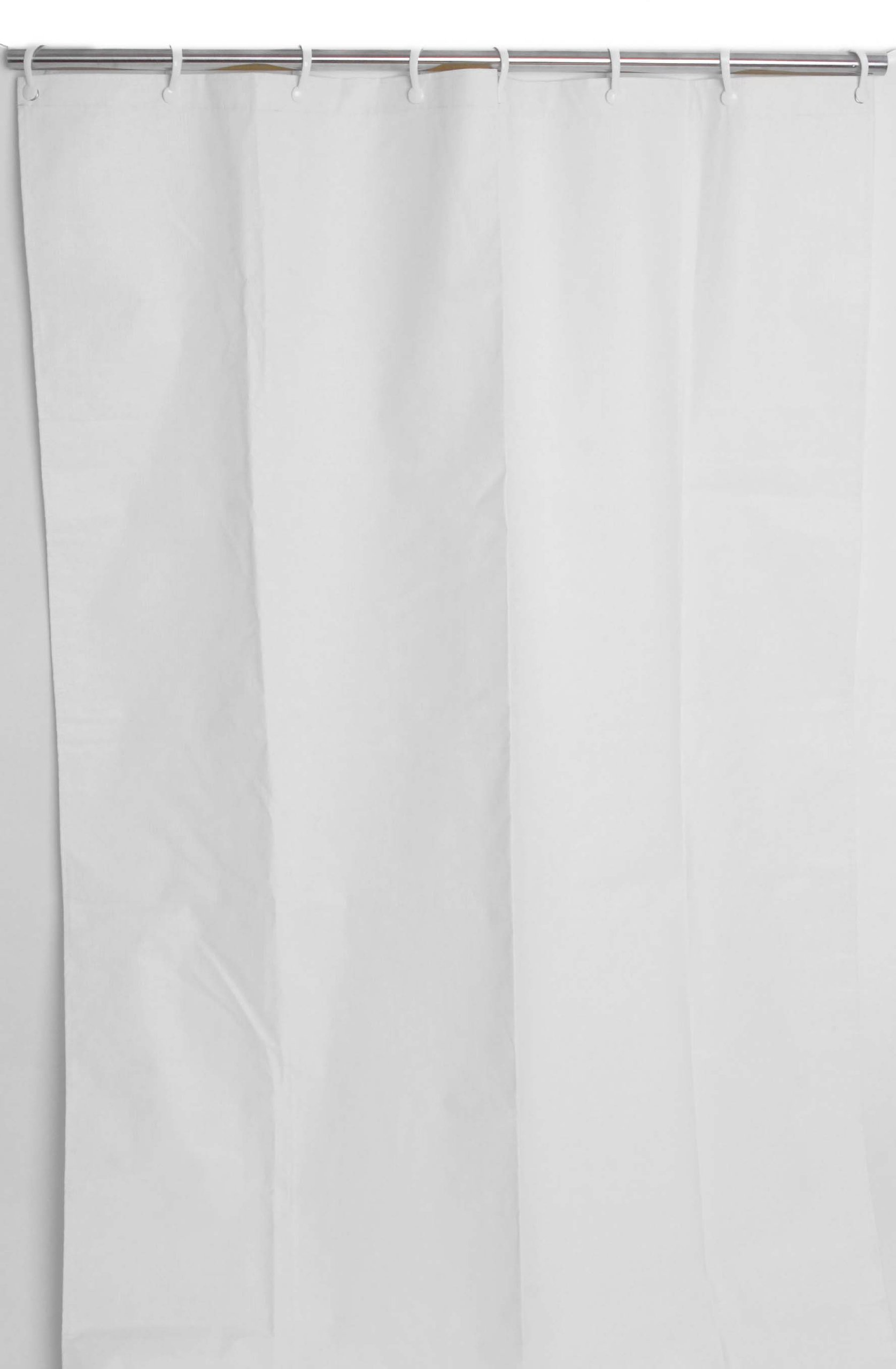 CSI Bathware CUR42x72NH-P5 Heavy-Duty Commercial Shower Curtain Antistatic Staph Resistant Mold and Odor Resistant (Pack of 5), 42 x 72'', White