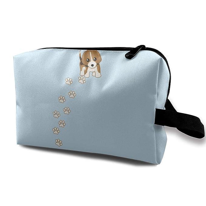 ef77a4de1bee Amazon.com: Beagle Puppy Dog Travelling Makeup Bags Cosmetics Bag ...