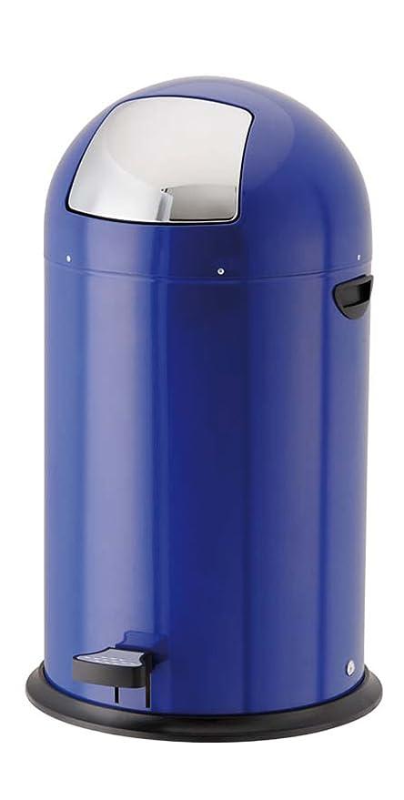 40 litros RETRO de acero inoxidable y azul KITCHEN cubo de ...