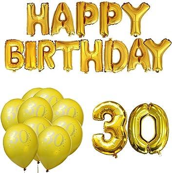 Meowoo 30 Ans Anniversaire Decorations Or Fete Ballons Happy Birthday Ballons Pour Anniversaire De Mariage Fete D Anniversaire Decoration Helium Ballons 20pcs Ballons 30 Birthday Amazon Fr Jeux Et Jouets