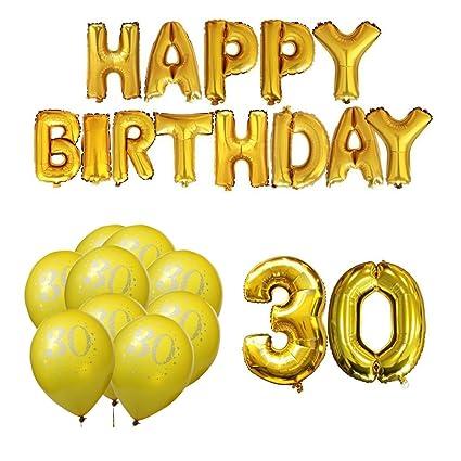 Meowoo- Globos de la Fiesta de 30th cumpleaños para la ...