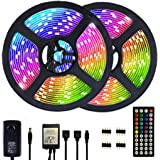 Segrasses 32.8ft 5050 RGB Led Strip Lights,10M 300 LEDs Rope Lights, IP20 Non Waterproof Color Changing with 20 Colors 8…
