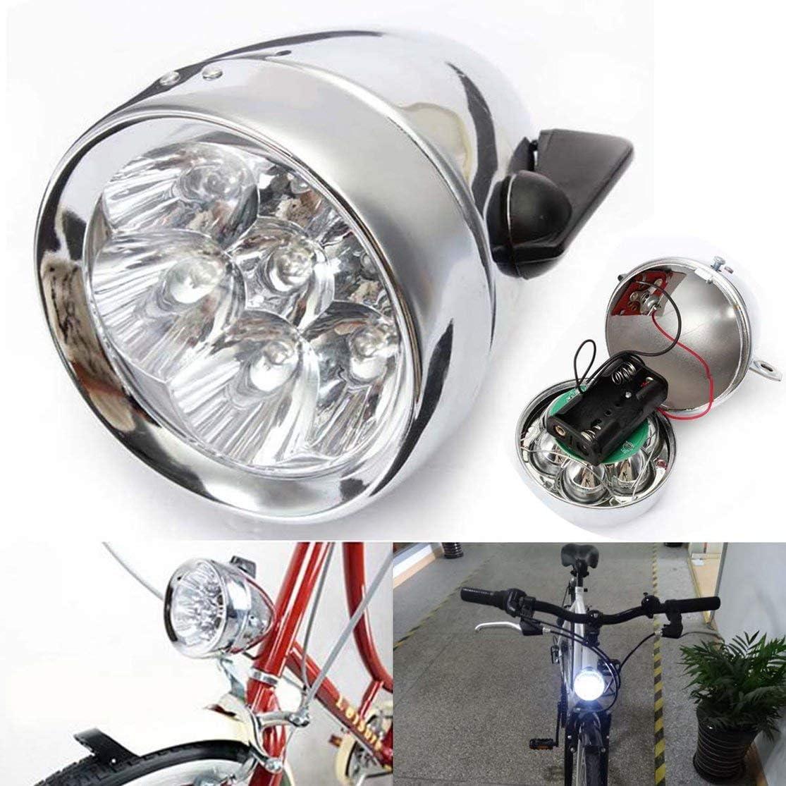 Kaemma Lámpara de luz Delantera de Bicicleta de Bicicleta Vintage ...