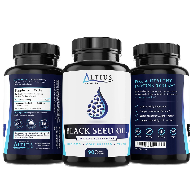 Best Black Seed Oil Capsules - Vegan, Cold Pressed, Non-GMO - Nigella  Sativa Black Cumin Seed Oil
