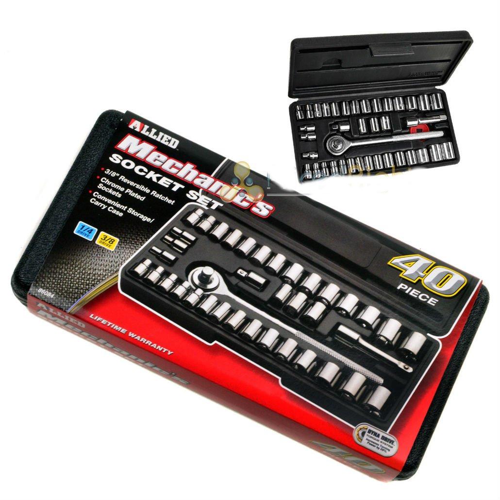 Mechanic Socket Set Allied 40 Piece PC 86084 Car Home Garage Emergency Tool Kit