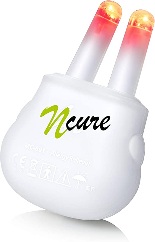 Amazon.com: nCure - for Hayfever Symptoms. nCure is a Revolutionary Electronic Allergy Relief Device which uses red Light phototherapy to Treat Allergic Rhinitis (hay Fever) Symptoms: Health & Personal Care