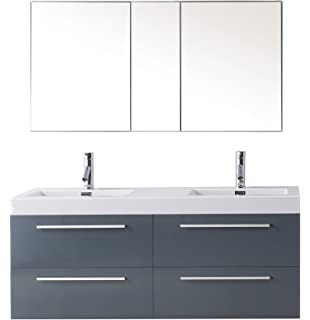 54 bathroom vanity double sink. Virtu USA JD 50754 GR Modern 54 Inch Double Sink Bathroom Vanity Set PL Finley