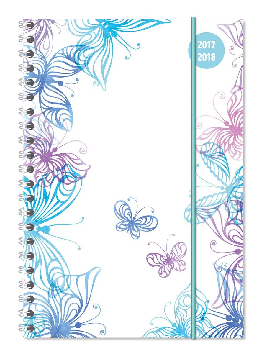 """Diario Agenda Scuola Collegetimer """"Farfalle"""" 2017/2018 - Spiralata - Settimanale - 224 Pagine - 15X21 Cm"""
