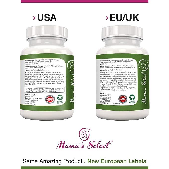 ... para aumentar el suministro de leche materna durante la lactancia y la crianza - Suplemento con semillas de fenogreco/vitaminas- Mejor que el té, ...