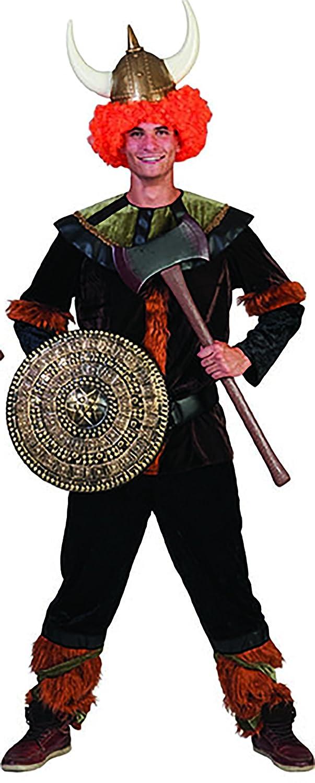 Erdbeerclown - Herren Wikinger Kostüm mit Kragen für Männer, M, Mehrfarbig
