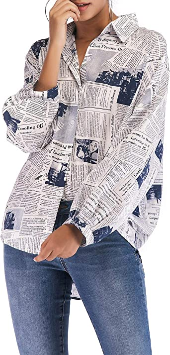 Blusa De Mujer En Escote Larga Manga V Blusa Tamaños Cómodos ...
