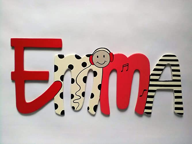 Namensschild Turschild Schriftzug Buchstaben Aus Holz Smiley