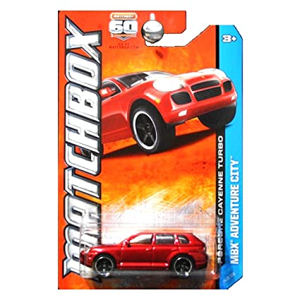 PORSCHE CAYENNE TURBO (RED) * MBX ADVENTURE CITY * 60th Anniversary Matchbox 2013 Basic