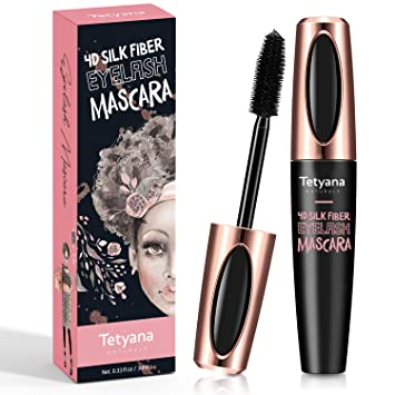 27aff6ec42e Amazon.com : 4D Silk Fiber Lash Mascara Waterproof Natural Thick Thickening  and Lengthening Mascara, Long Lasting Charming Eye Makeup : Beauty