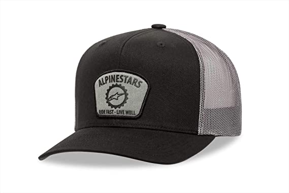 Alpinestars Gorra Trucker Garage Negro-Antracita - Ajustable ...