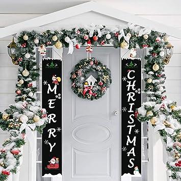 Amazon.com: Outivity - Cartel para puerta de Navidad ...