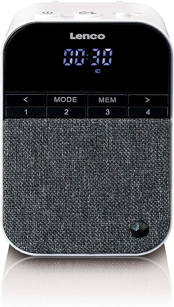 Lenco Ppr 100 Steckdosen Radio Mit Nachtlicht Bewegungsmelder Bluetooth 5 0 3 Watt Rms Integrierter Akku Weiß Heimkino Tv Video