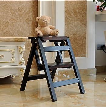 Strange Amazon Com Nssdsd Solid Wood Step Stool Household Multi Ibusinesslaw Wood Chair Design Ideas Ibusinesslaworg