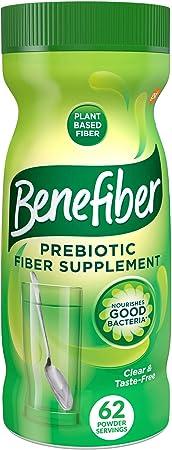 Benefiber Daily Prebiotic Fiber Supplement Powder for Digestive Health, Daily Fiber Powder, Unflavored - 8.7 Ounces