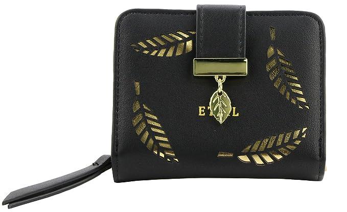 ETIAL Womens Vintage Floral Zip Mini Wallet Short Design Coin Purse