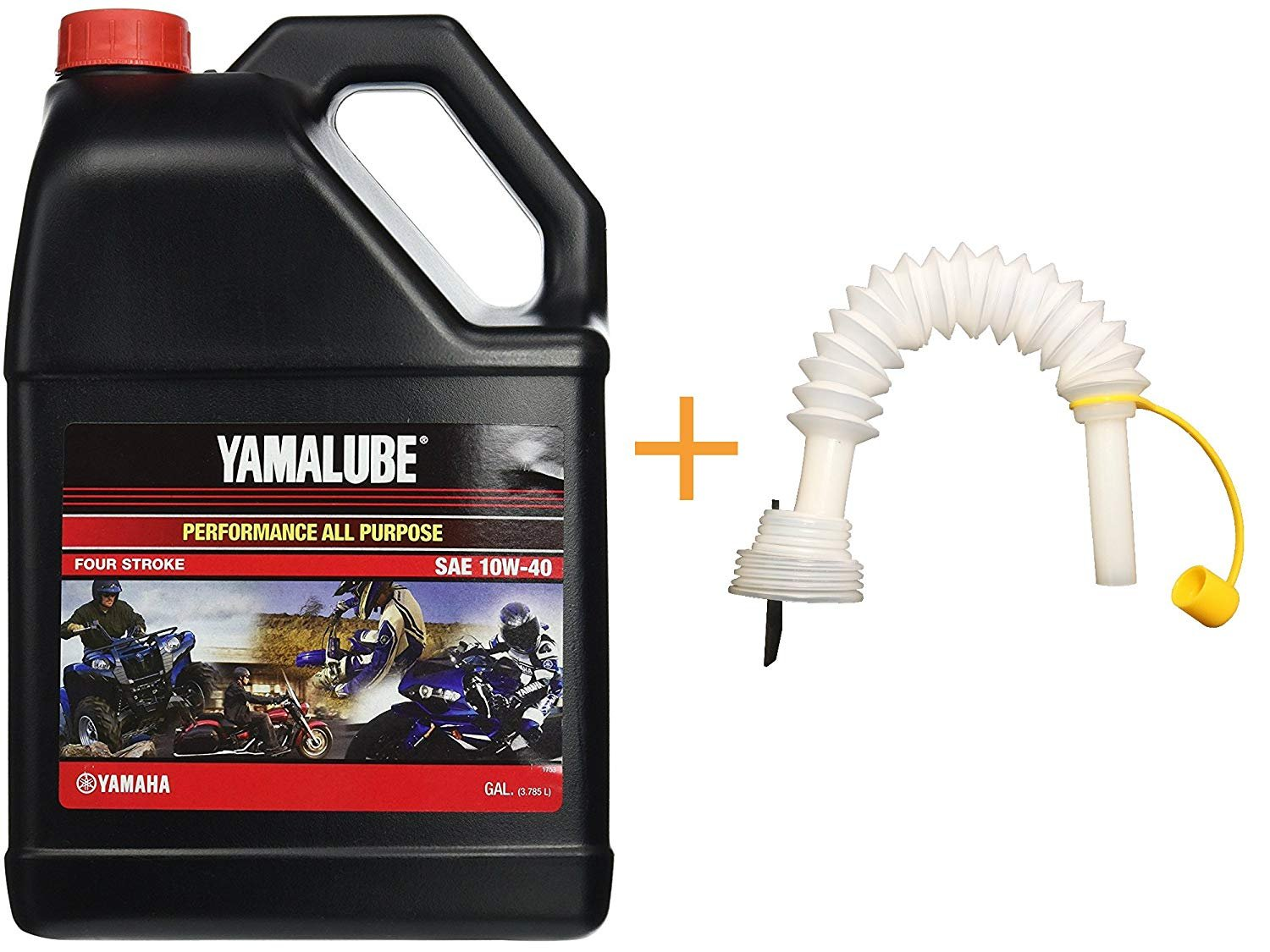 YamaLube All Purpose 4 Four Stroke Oil 10w-40 1 Gallon PLUS Shinespout