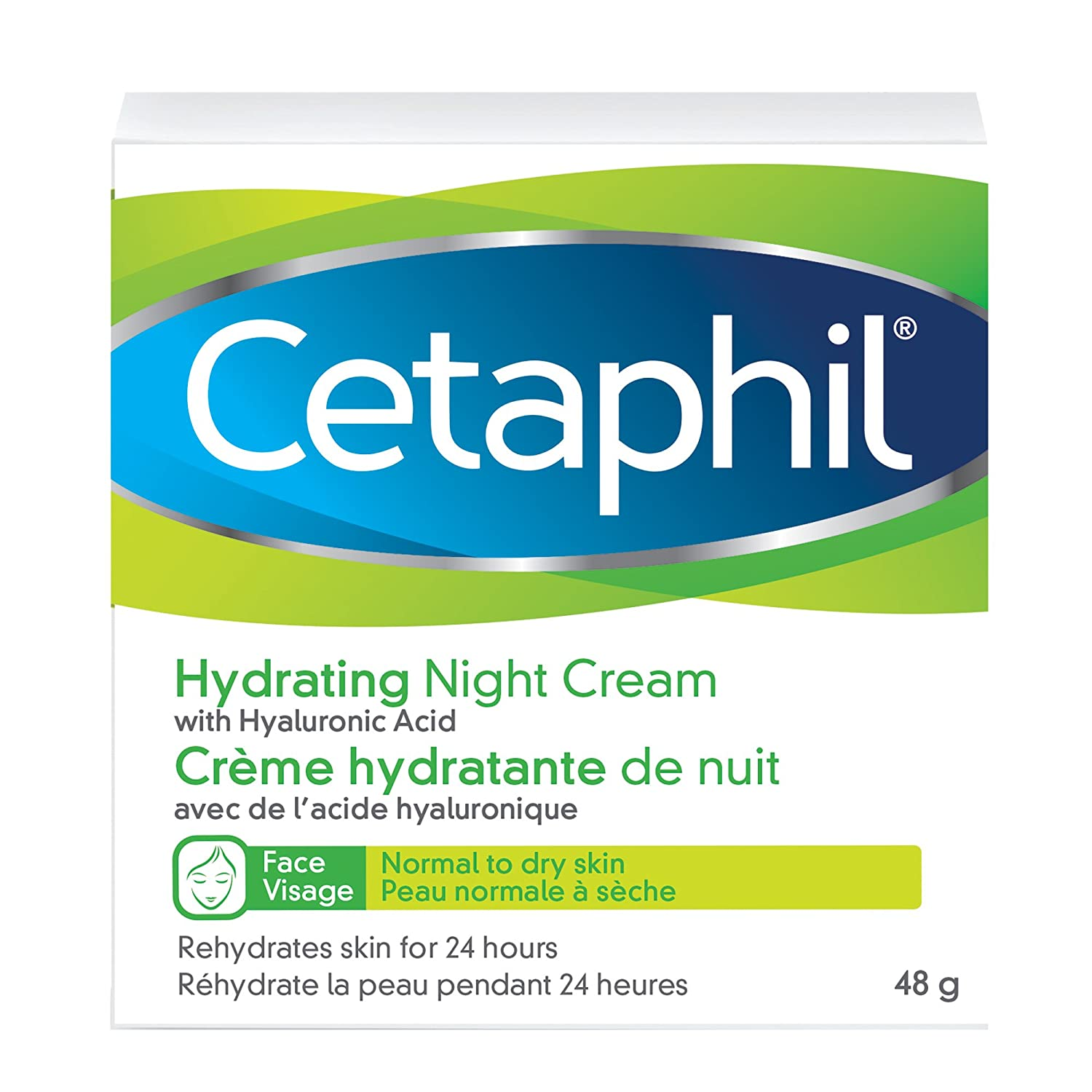 Cetaphil Hydrating Night Cream with Hyaluronic Acid, 48g Galderma