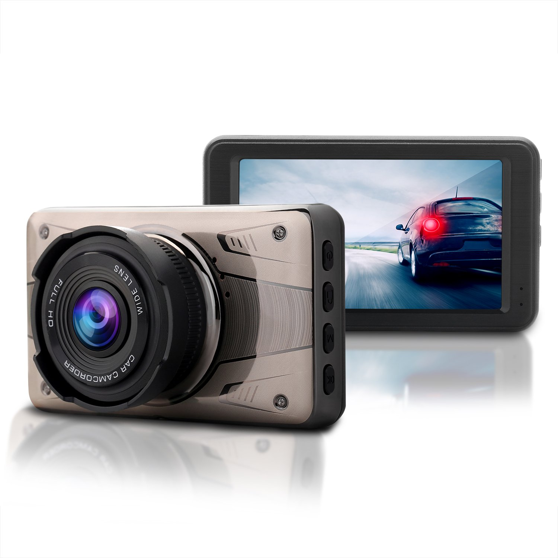 ULU SD02 FHD 1080P Dash Cam 170 Degree View Angle, Dashboard Camera, Car DVR Vehicle Dash Cam with G-sensor, WDR, Loop Recording
