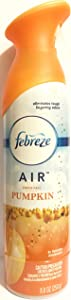 Febreze Air - Air Freshener Spray - Limited Edition - Winter Collection 2017 - Fresh-Fall Pumpkin - Net Wt. 8oz (250 G) Per Bottle - One (1) Bottle