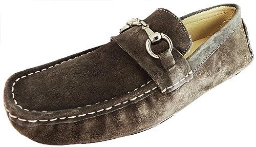 Para hombre Ted Lapidus 3635 S Mocasines de ante, color gris, talla 45: Amazon.es: Zapatos y complementos