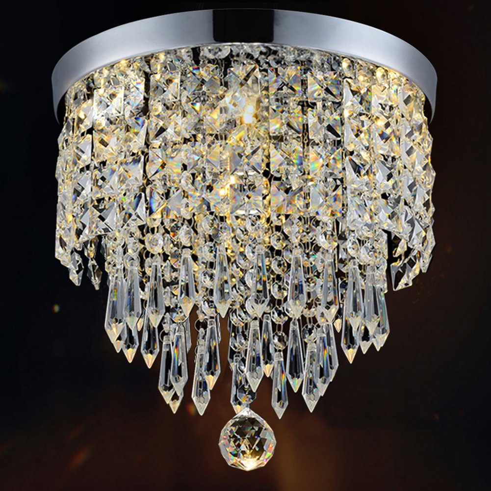 "Hile Lighting Ku300074 Modern Chandelier Crystal Ball Fixture Pendant Ceiling Lamp H9.84"" X W8.66"", 1 Light by Hile Lighting"