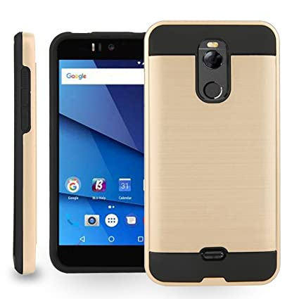 the best attitude 96e53 8fa83 BLU R2 - 4G LTE Case,Biaotai[Shock Absorption] Drop Protection Hybrid Dual  Layer Armor Protective Case Cover for BLU R2 LTE (Gold)
