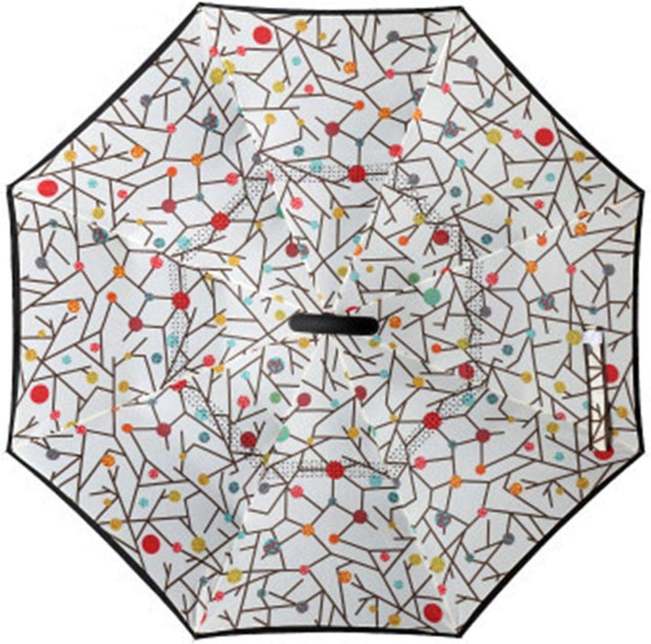 2019 Folding Long Shank Double Layer Inverted Umbrella Windproof Reverse C-Hook male reverse Umbrellas,15