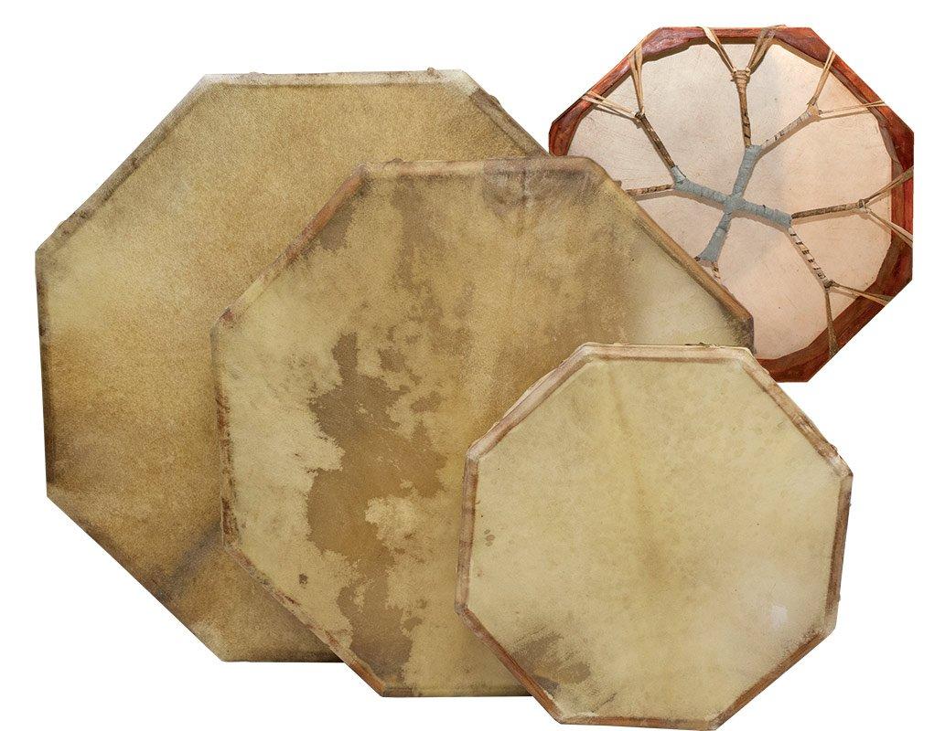 Shaman drum 8-corners with goat skin, Frame Drum, handmade … (28 inch)