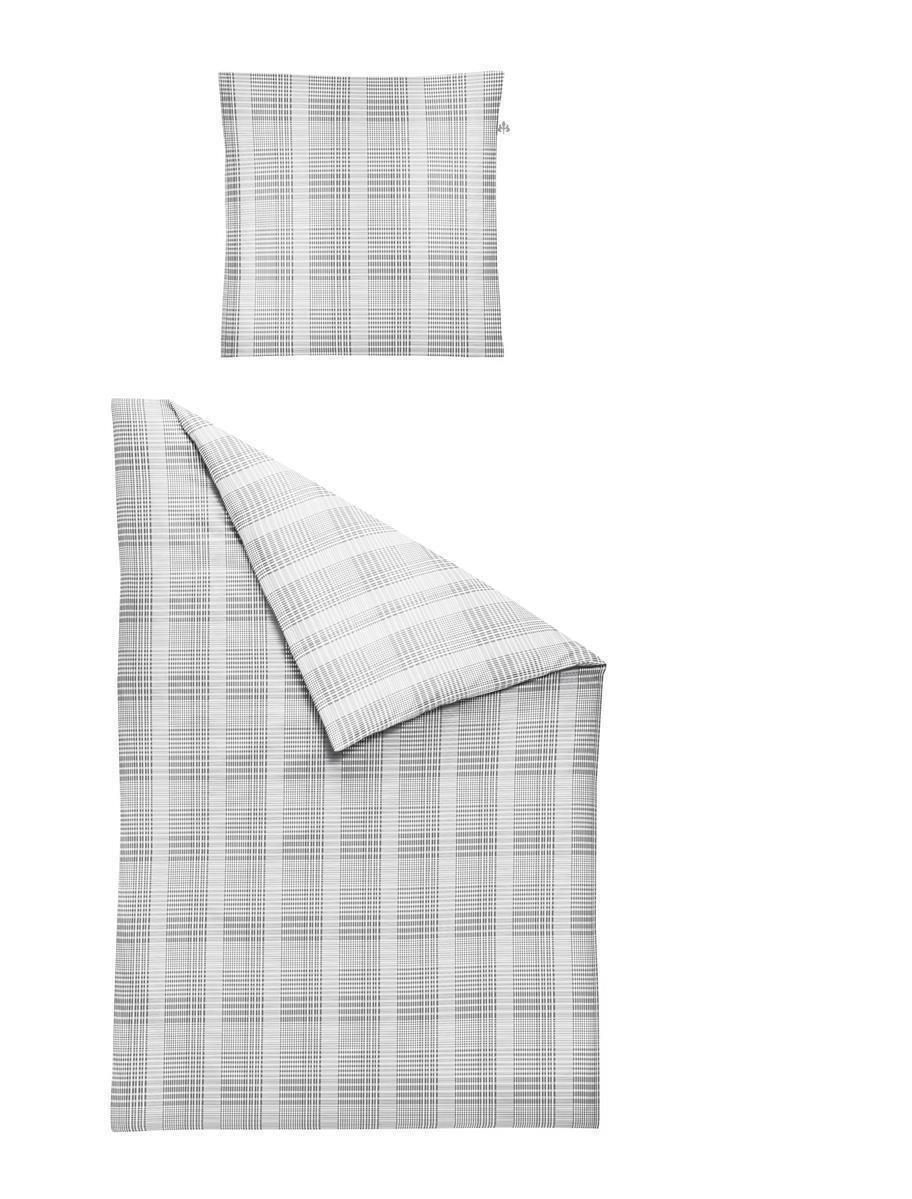 Irisette Mako Satin Bettwäsche Bio 4 teilig Bettbezug 135 x 200 cm Kopfkissenbezug 80 x 80 cm Maple 314627-11 Silber