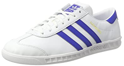 the best attitude 6f265 9967b adidas Originals Mens Hamburg Shoes Trainers, (WhiteRoyal), 5 UK 38
