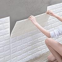 10 stuks 3D-zelfklevend behang, waterdichte muurstickers, baksteenbehang, wandbehang, schuimrubber voor slaapkamer…