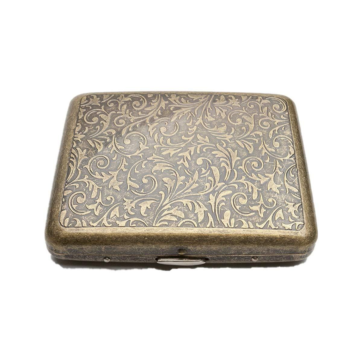 ZHONGYUE Cigarette Case, 20 Packs, Retro Male Personality Metal Cigarette Case, Portable Cigarette Case Unique Design, Sturdy and Lightweight. (Style : B)