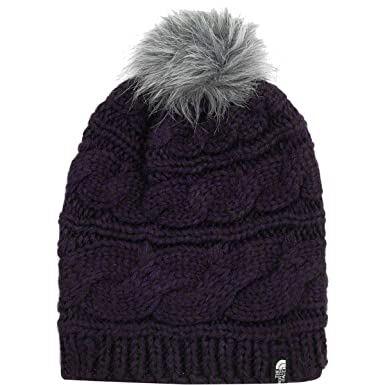 1bd37bcae3644 Amazon.com  The North Face Triple Cable Fur Pom - Galaxy Purple - OS ...