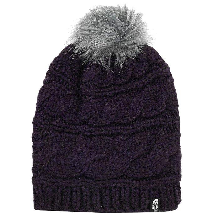 0a5baf11c5408 Amazon.com  The North Face Triple Cable Fur Pom - Galaxy Purple - OS ...