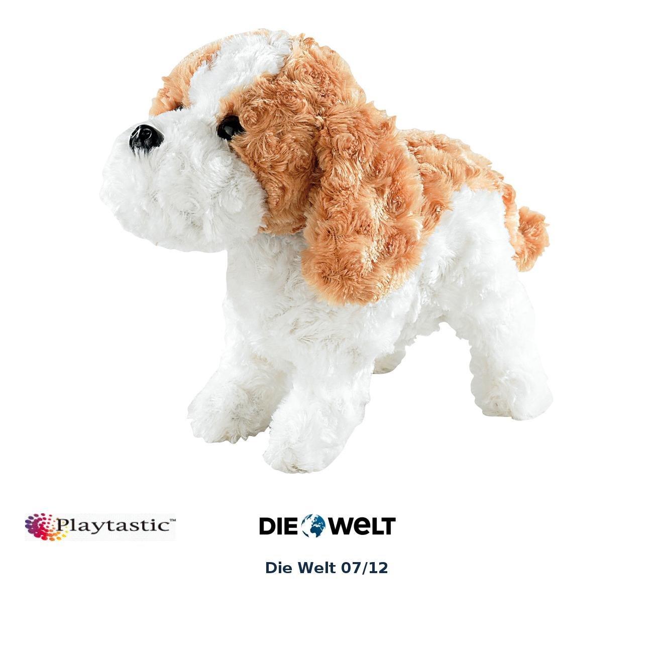 Playtastic Plüschhund: Plüsch-Funktionshund mit Akustik- & Berührungssensoren (Spielzeug Hund mit Funktion)