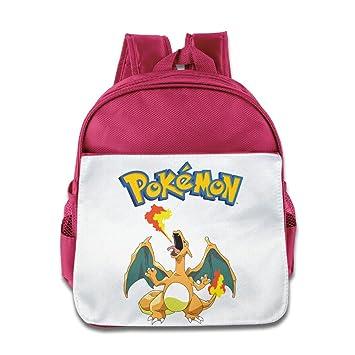 Kid Cartoon Pokemon Charizard mochila escolar rosa rosa talla única: Amazon.es: Electrónica