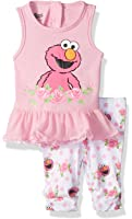 Sesame Street Baby Girls' 2 Pc Knit Tank and Pant Set