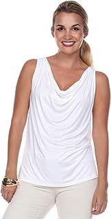 product image for JudyP Blu Women's Elizabeth Cowl Neck Top (8 Colors)