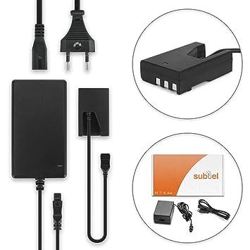 subtel® Fuente de alimentación Compatible con Nikon D3000 D40 D40x D5000 D60 (Eh-5 / EH-5b + EP-5) - ca. 3m, Eh-5,EH-5a,EH-5b, EP-5, Cable de ...