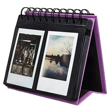 Image du produit Woodmin 68 Poches Calendrier Album Photo de Fujifilm Instax Mini 70 7s 8 25 50 90, Polaroid Z2300, Polaroid PIC-300P Film (Violet)
